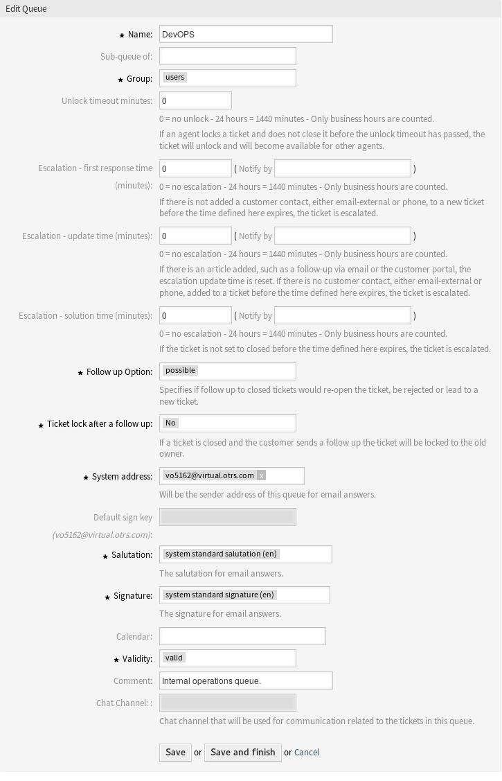 Queues — OTRS Administration Manual 7 0 documentation